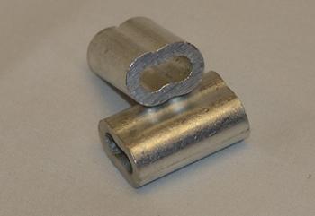 Bague ovale aluminium 3/16