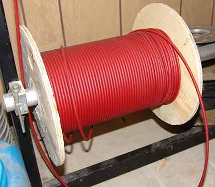 Câble d'acier SS 5/32 imprégné