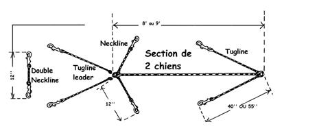 Section de traîneau - corde creuse(9')